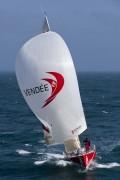 Des heures difficiles pour Frédéric Rivet à bord de Vendée 1...