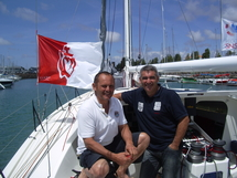Lionel Régnier et Pierre Yves Cavan fin prêt pour la Global Race