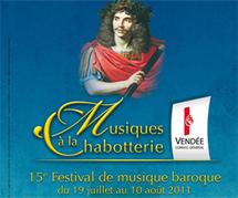 Ouverture du 15 ème Festival de musique baroque à la Chabotterie mardi 19 juillet à 21h00