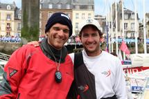 7ème de l'étape, 8ème du classement général, vainqueur du classement bizuth :carton plein pour Morgan Lagraviere (Vendée) sur la Solitaire du Figaro
