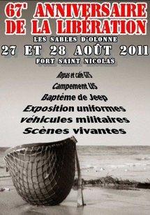67e anniversaire de la libération de la ville des Sables d'Olonne samedi 27 et dimanche 28 août