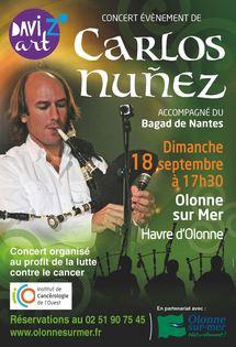 Carlos NUNEZ à Olonne-sur-Mer le dimanche 18 septembre à 17h00