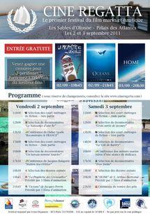 Tourism Regatta: 1er événement Mer & Tourisme sous le signe du développement durable qui aura lieu du 1er au 4 septembre aux Sables d'Olonne