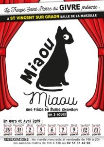 Saint-Vincent-sur-Graon: théâtre avec «Miaou Miaou» par la troupe St Pierre du Givre