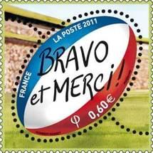 Un timbre en hommage au XV  de France