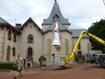 La statue en fonte n'avait pas quitté son socle depuis 119 ans