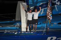 Jean-Pierre Dick et Jérémie Beyou vainqueurs de la Transat Jacques Vabre 2011 sur Virbac-Paprec 3