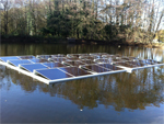Une centrale photovoltaïque flottante (100 kWc) en Vendée !
