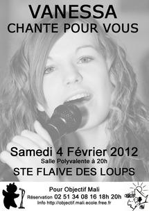 Concert de variétés françaises de Vanessa pour Objectif Mali