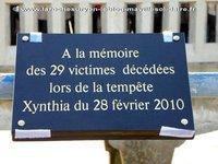 Xynthia : un mémorial pour les sinistrés