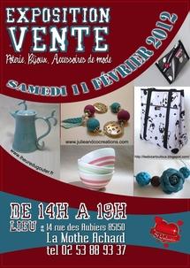 Exposition vente artisanale le samedi 11 février de 14h00 à 19h00