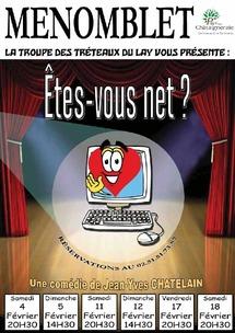 """La troupe théâtrale « Les tréteaux du Lay » de Ménomblet  présente """"Etes-vous net ?"""""""