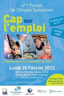 CAP sur l'emploi ! Rendez-vous au Forum de l'Emploi saisonnier de l'île de Noirmoutier le 20 février prochain.