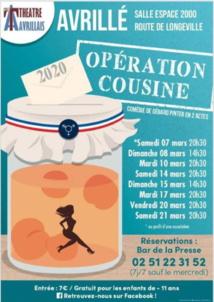 """Avrillé : théâtre avec """"Opération cousine""""  à partir du 7 mars"""