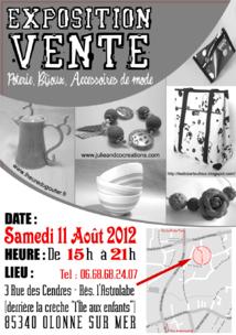 Exposition vente de créations artisanales à Olonne sur Mer