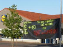 Blocage de 3 Lidl ce vendredi  par la FDSEA et les Jeunes agriculteurs de Vendée