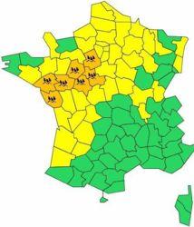 Alerte orange aux pluies et inondations dans l'ouest