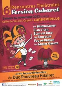 6è Rencontres théâtrales « version cabaret » le samedi 24 novembre
