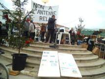 Longeville-sur-Mer: une cinquantaine d'opposants à l'antenne relais de la Saligotière manifestent