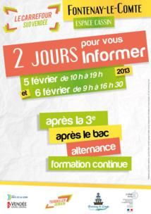 Carrefour des métiers les 5 et  6 février à Fontenay-le-Comte