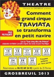 L' Entracte de Grosbreuil  vous propose un spectacle épicé aux couleurs du cirque et des arts du spectacle ce dimanche à 14h30