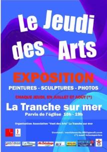 Chaque jeudi de juillet et d'août, exposition d'artistes plasticiens à La Tranche sur mer