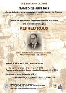 Dans les pas d'Alfred ROUX  ce samedi 29 juin à la Chaume
