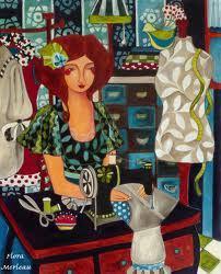 Carole Rapin, créatrice de bijoux, expose l'artiste peintre Flora Merleau du 16 septembre au 30 octobre