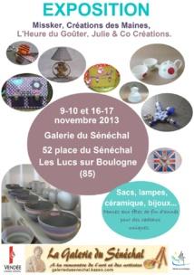 Exposition artisanat vendéen 9-10 et 16-17 novembre aux Lucs-sur-Boulogne
