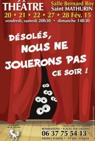 Théâtre avec la Compagnie de la Licorne à Saint Mathurin à partir du 20 février