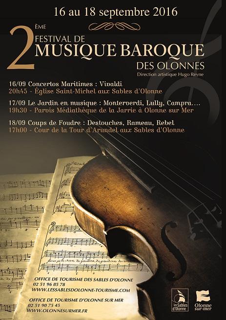 Les Sables d'Olonne: 2° Festival de Musique baroque du 16 au 18 septembre