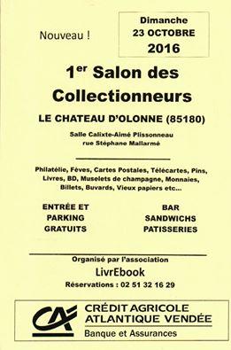 Le Château-d'Olonne : Salon des Collectionneurs le dimanche 23 octobre de  9h à 18h