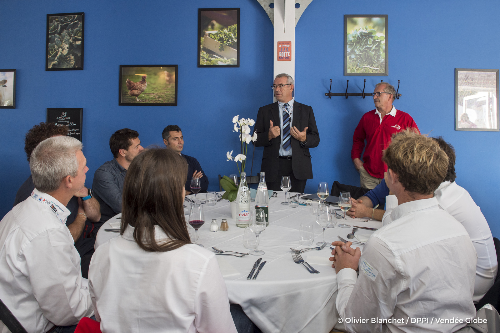 Les candidats au Vendée Globe 2020 en visite sur le village