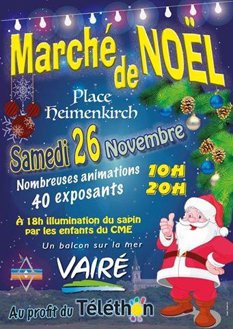 Vairé: Marché de Noël ce samedi 26 novembre de 10h00 à 20h00