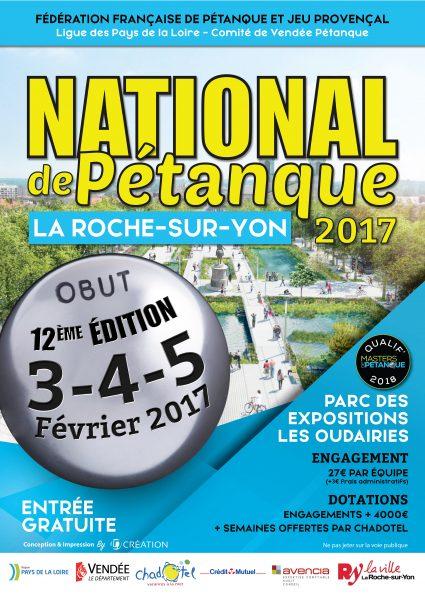 La Roche-sur-Yon : National pétanque les 3 , 4 et 5 février