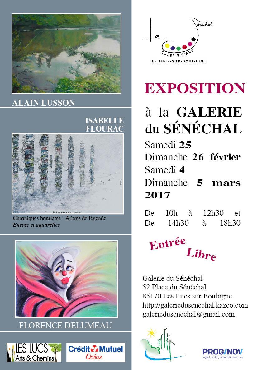 Exposition à la Galerie du Sénéchal, aux Lucs-sur-Boulogne