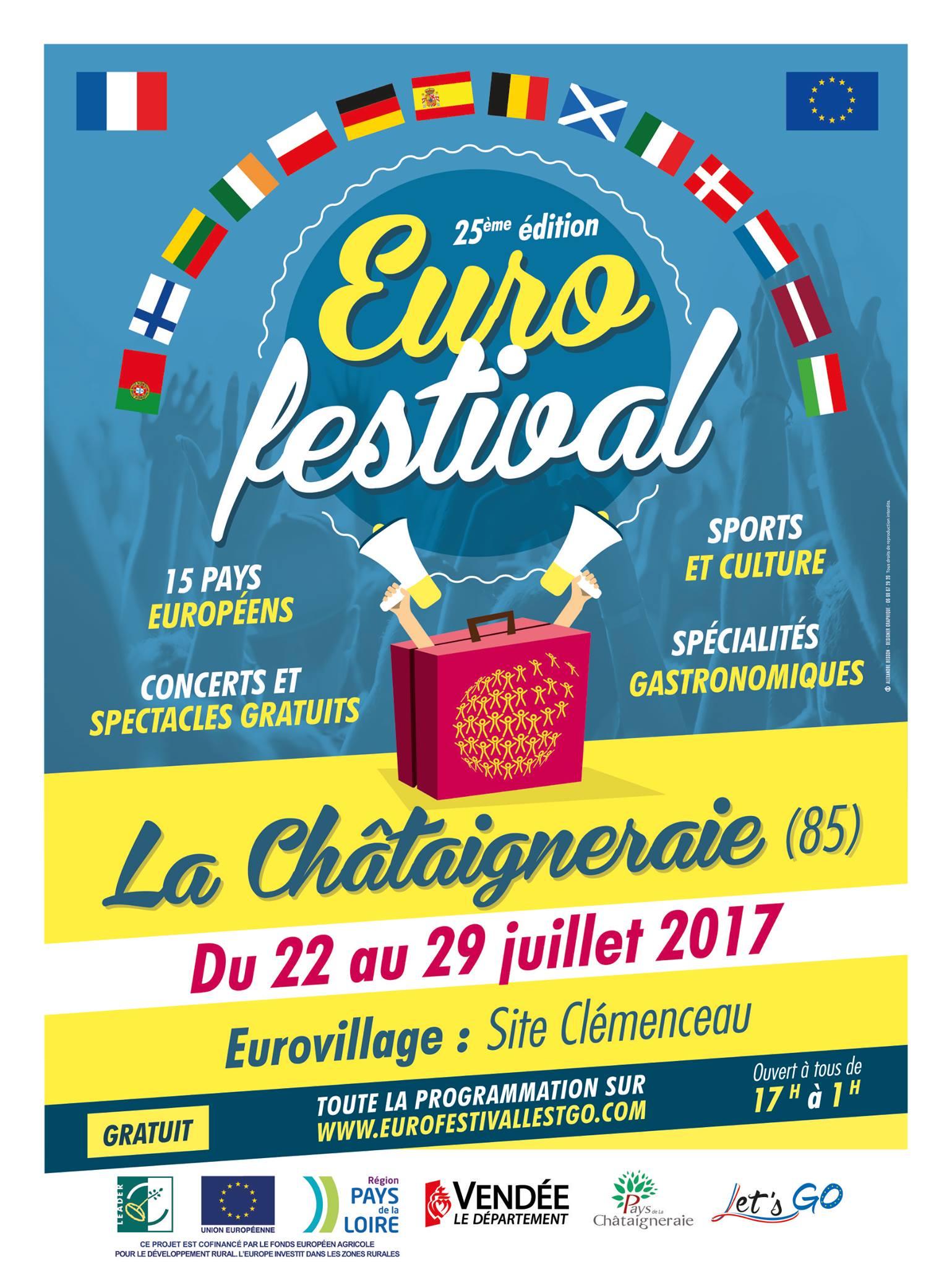 La Châtaigneraie: du 22 au 29 juillet 2017, environ 700 représentants venus de toute l'Europe