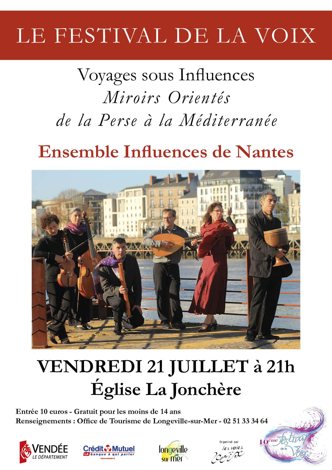 La Jonchère: Ensemble « Influences » de Nantes vendredi 21 juillet à 21h00