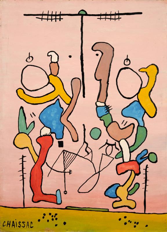 Le Loustic plein d'astuce à la fête foraine, 1957, huile sur carton