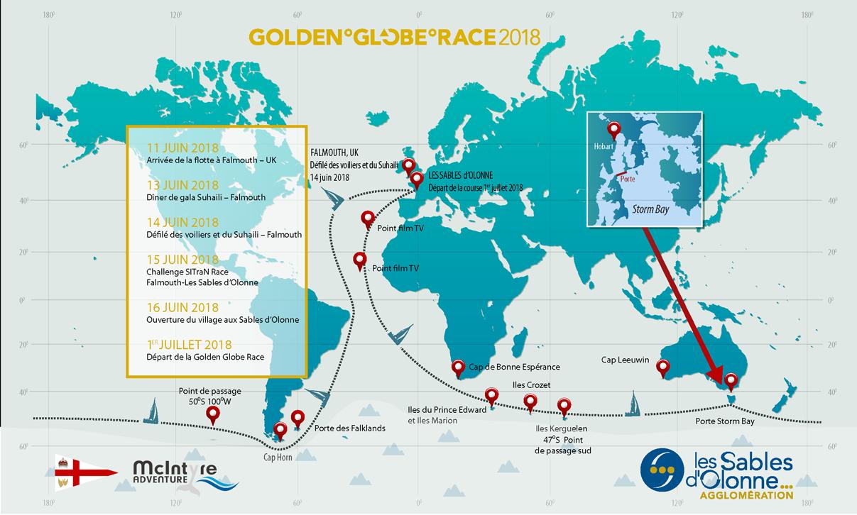 Départ et arrivée de la Golden Globe Race 2018 aux Sables d'Olonne
