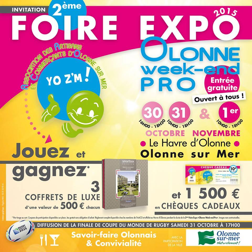 Olonne-sur-Mer: Foire expo pro les 27,28 et 29 octobre au Havre d'Olonne