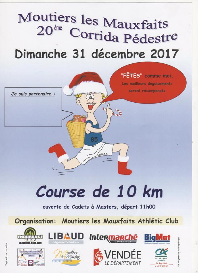 Moutiers-Les-Mauxfaits: : corrida pédestre le dimanche 31 décembre