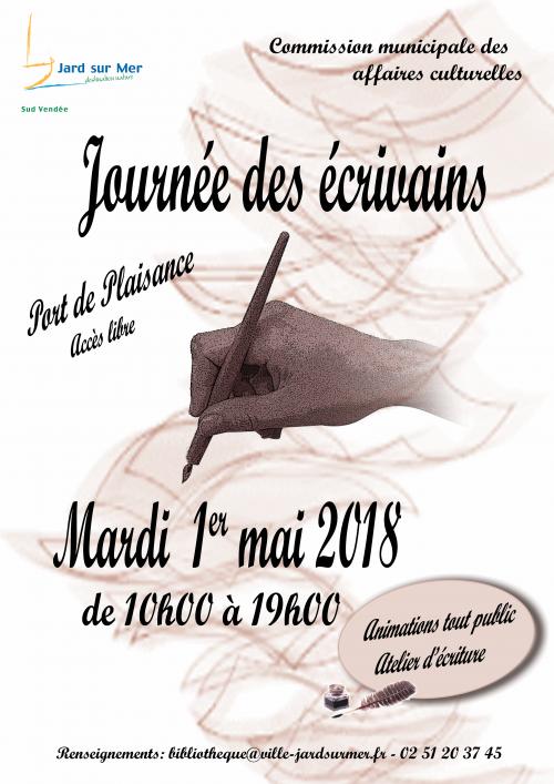 Jard-sur-Mer: « Journée des Ecrivains » le mardi 1° mai de 10h00 à 19h00