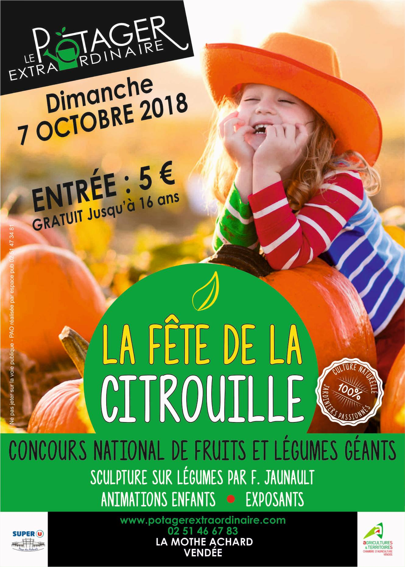 La Mothe-Achard : Concours national des fruits et légumes géants au Potager Extraordinaire le dimanche 7 octobre