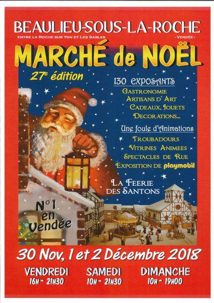 Beaulieu-sous-La Roche: Marché de Noël du vendredi 30 novembre au dimanche 2 décembre
