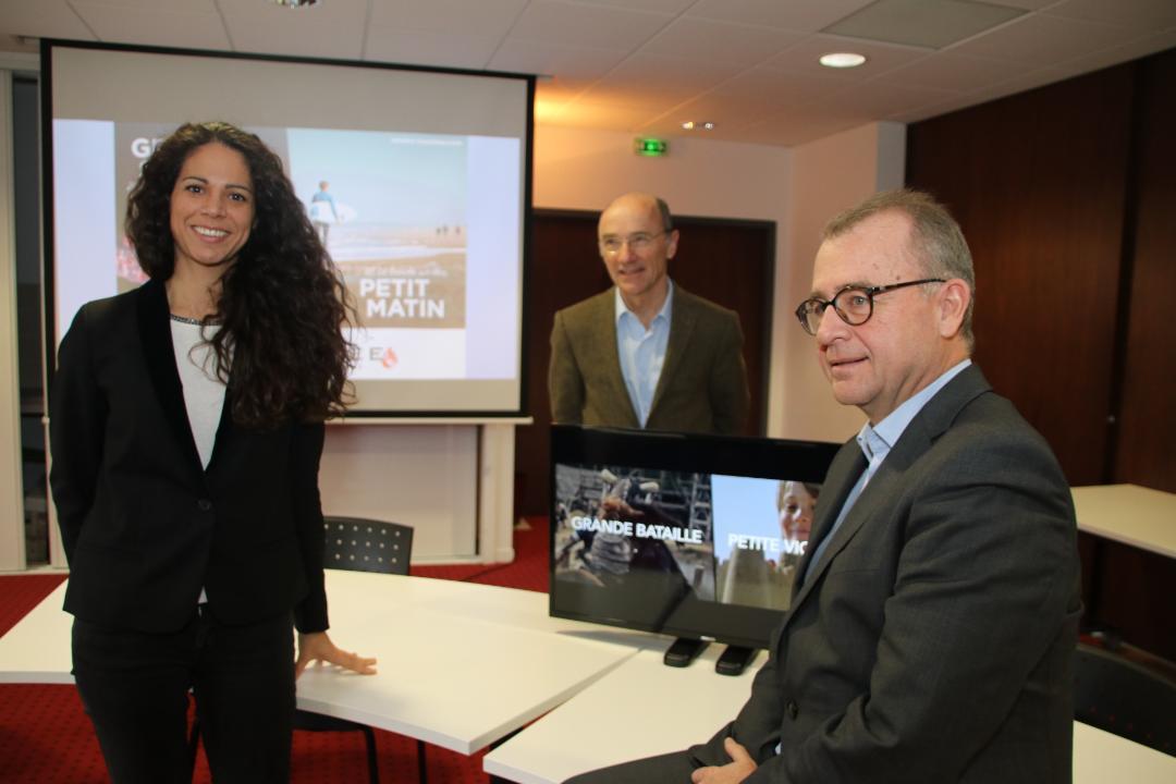 Wilfrid Montassier, Président de Vendée Expansion, Eric Guilloux, Directeur Général de Vendée Expansion et Karen Alletru, Directrice du Pôle Tourisme de Vendée Expansion.