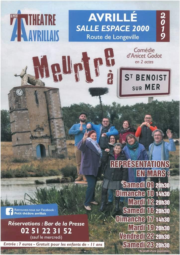 Avrillé: théâtre avec la Troupe du Petit théâtre avrillais du 9 au 23 mars