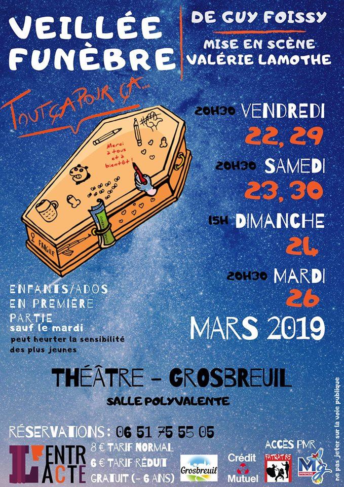 """Grosbreuil: théâtre avec la troupe """" l'Entracte"""" ce vendredi 22 mars à 20h30"""
