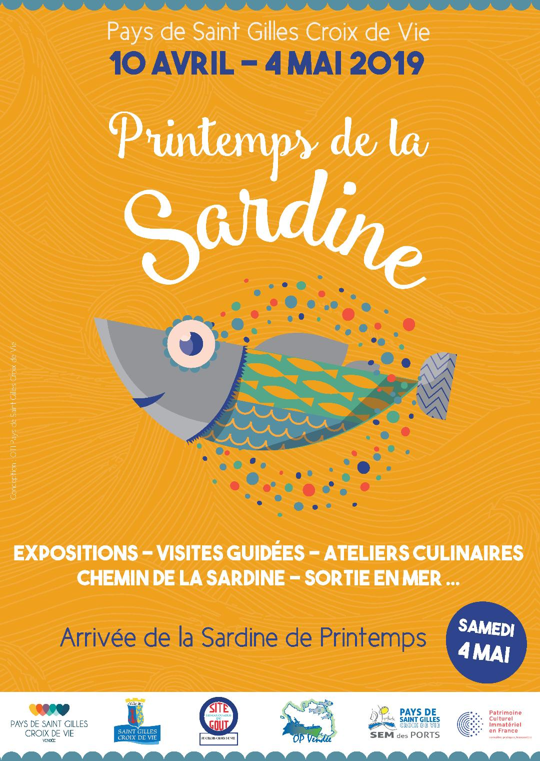 Printemps de la Sardine 2019 du 10 avril au 4 mai au Pays de Saint Gilles Croix de Vie