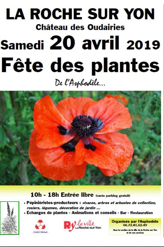La Roche-sur-Yon : fête des plantes le samedi 19 avril à partir de 10h00 à 18h00